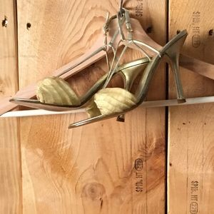 Satin see through strappy heels by Joey